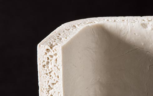 ceramic foam with open pores