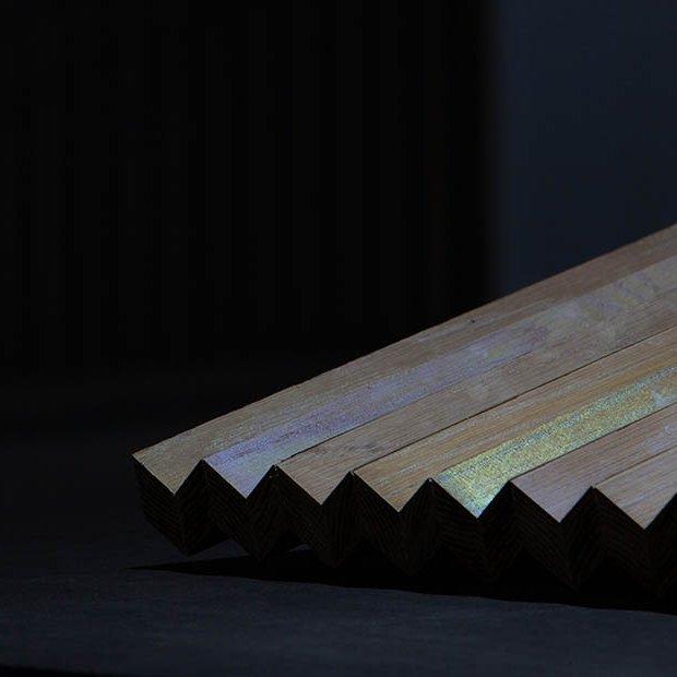 Shimmering smart wood